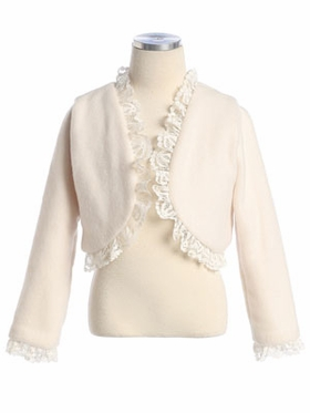 Poly-Fleece Borelo with Lace Trim