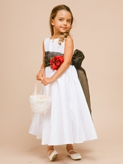 Poly-Shantung Flower Girl Dress