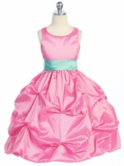 Pretty in Pink Bubble Flower girl Dress