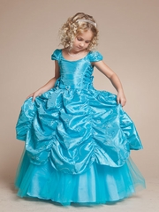 Princess Embroidered Pick-up Gown with Criss-Crossed Sash