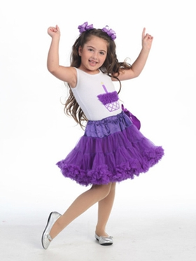 Purple Cupcake Girl's Tutu Set