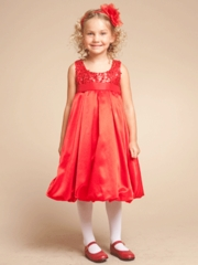 Red/ Burgundy Flower Girl Dresses