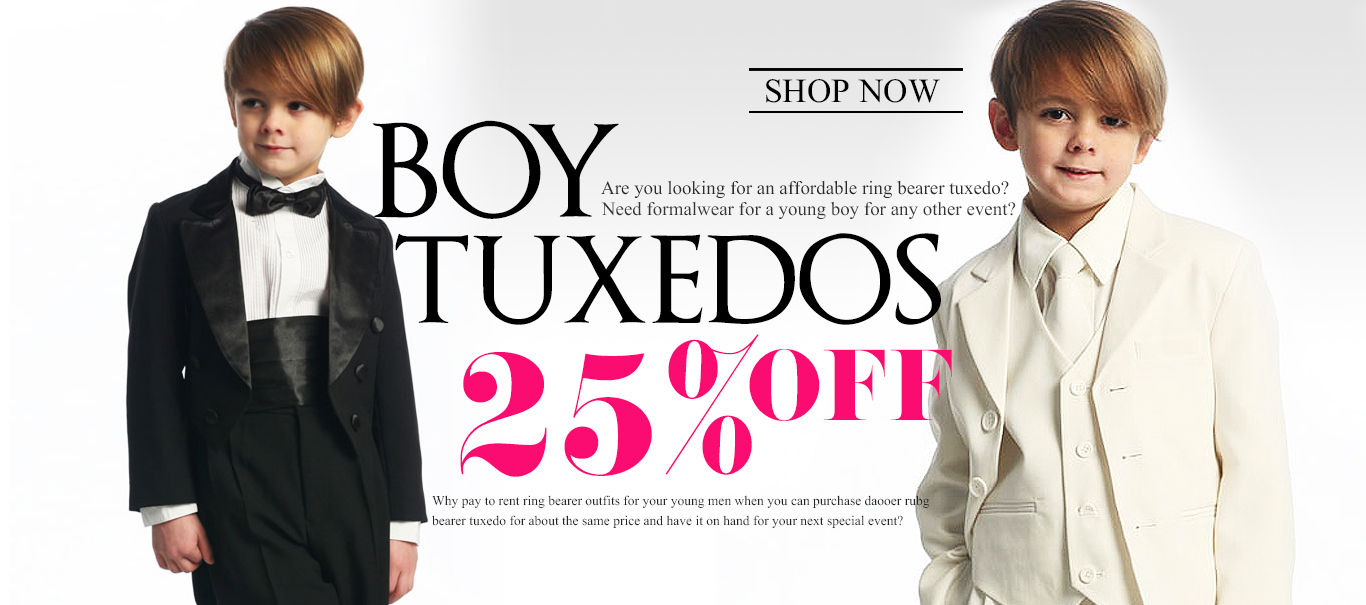 Style Your Prince with Boy Tuxedos for those Special Moments