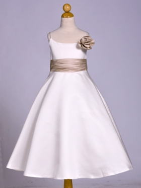 Rosette-Inspired A-Line Flower Girl Dress