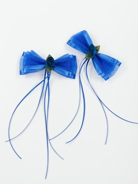 Royal Blue Rose Hairpins