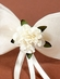 Ruby's Ivory Flower Girl Hairpin