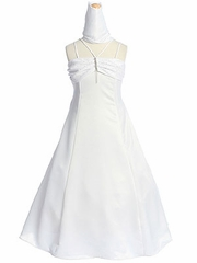 Ruched Bodice Flower Girl Dress