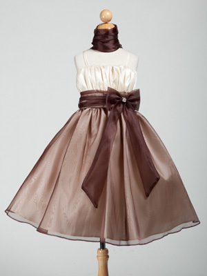 Ruched Bodice Organza Graduation Dress