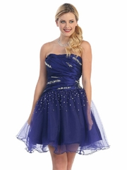 Ruched  Fancy Prom Dress