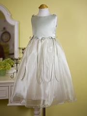 Sage Organza Flower Girl Dress