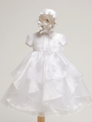 Satin and  Organza dress (2pcs Set)