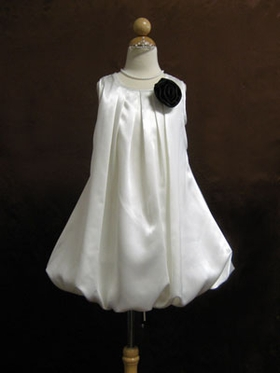 Satin Bubble Dress for Flower Girl
