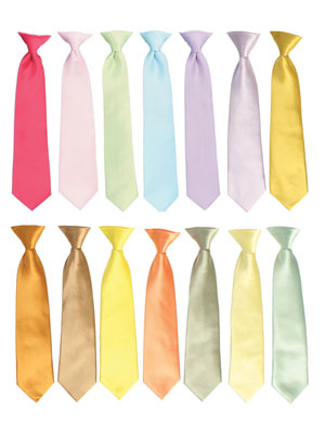 Satin Color Tie for Ring Bearer