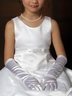 Satin long glove for flower girl dress