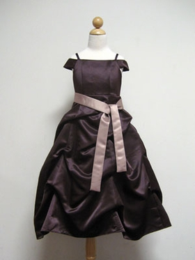 Satin Pick-up Junior Bridesmaid Dress