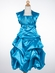 Satin Ruched Bodice with Gathered Skirt Flower Girl Dress