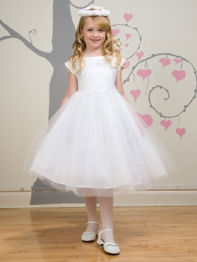 Satin with Tulle Communion Dress