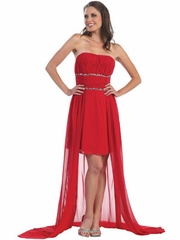 Sexy New Trendy Low Hhigh Prom Dress