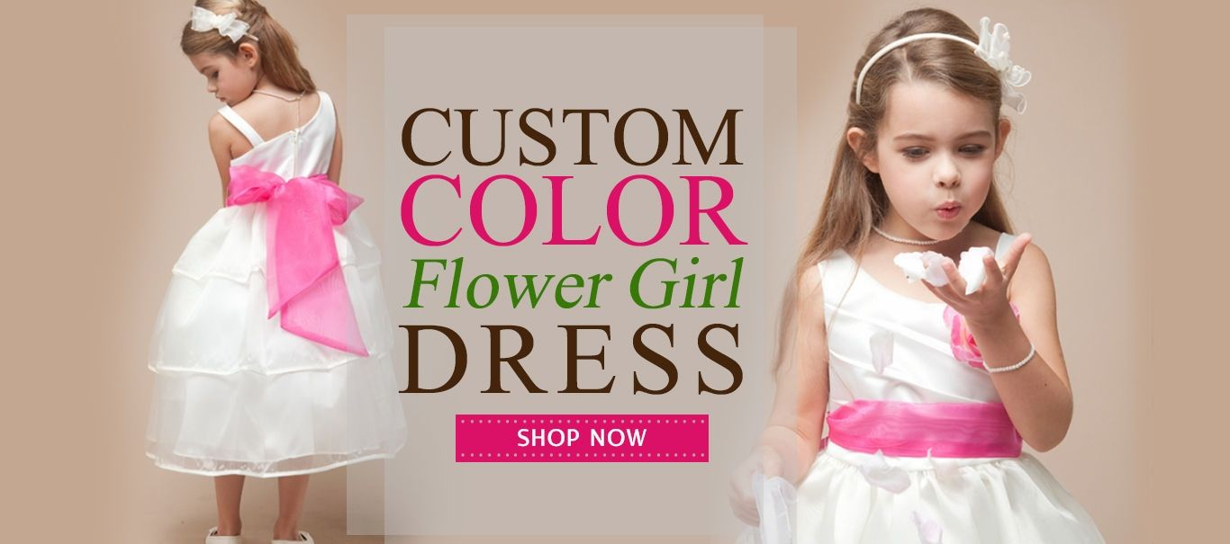 Turn the Eyes to Your Little Angel with Custom Flower Girl Dresses