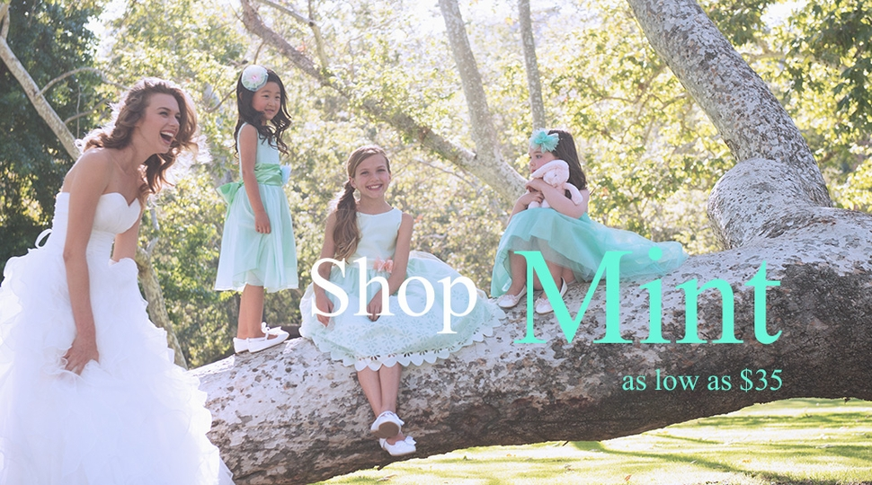 shop mint flower girl dress at mygirldress