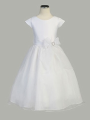 Side Ribbon Organza Dress w/Satin Top