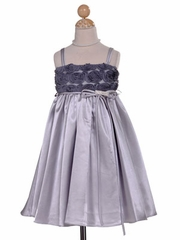 Silver Rosette-Inspired Holiday Dress