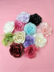 Small Silk Flower Pin for Flower Girl Dress