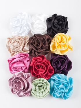 Soft hand rolled rosettes