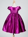 Solid Satin Dress with Boat Neck Bodice and Cup Sleeves