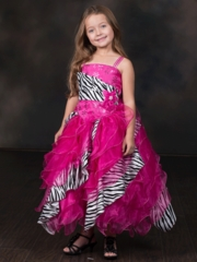 Stunning Organza Dress with Zebra Print