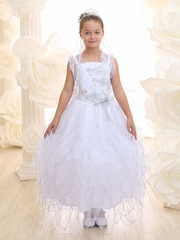 Stunning Ruffled Communion Dress