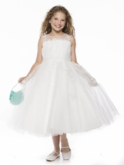 Stunning Tulle Dress with Lace Applique