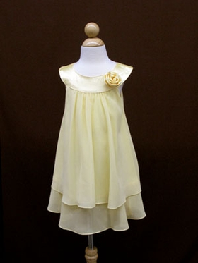 Stunning  Yellow Double Layered Flowergirl Dress