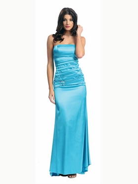 Stylish  Strapless Ruched Bodice Bridesmaid Dress