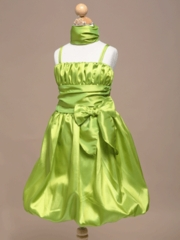 Summer Bubble Skirt Flower Girl Dress