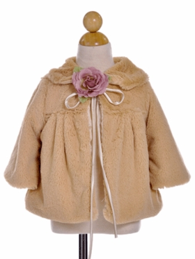 Soft Faux Fur Coat for Flower Girl