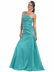 Sweet Heart Taffeta Long Prom Dress