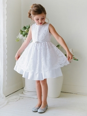 Sweet Lace Cotton Communion Dress