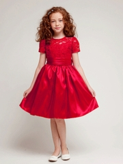 Sweet Lace Short Holiday Dress