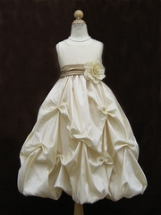 Taffeta Pick-up Flower Girl Dress