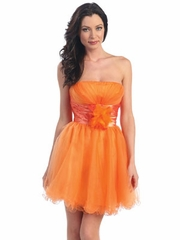 Taffeta Wasit Short Party Dress