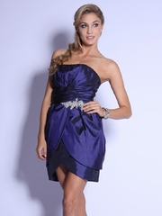 Tasty Overlay Short Prom Dress