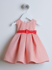 Tomato Petite Polka Dot Jacquard Dress