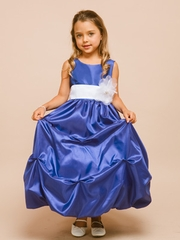 Trendy Bubble Taffeta Pick-up Flower  Girl Dress