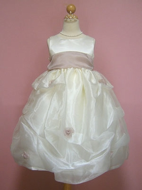 Trendy Gathered Flower Girl dress