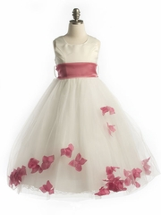 Tulle Petal Dress with Organza Sash