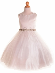 Tulle Skirt Dress with Rhinestone Belt