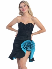 Two-Tone Sexy Short Prom Dress