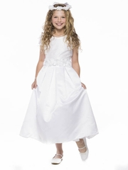 White Elegant Lace Communion Dress