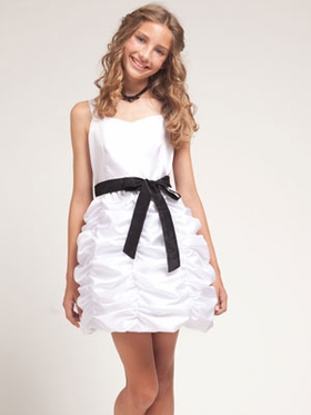 White Junior Bridesmaid Dress